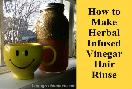 how to make herbal vinegar hair rinse
