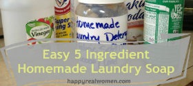 Easy 5 Ingredient Homemade Laundry Soap