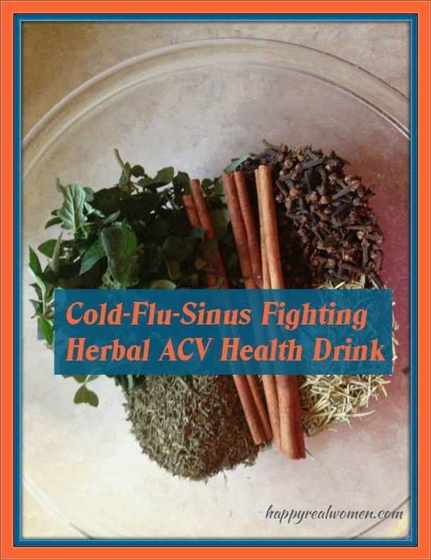 cold flu sinus fighting herbal acv health drink
