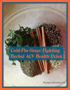 Cold-Flu-Sinus Fighting Herbal ACV Health Drink