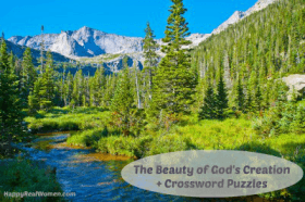 Beauty of Gods Creation Crossword Puzzle