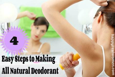 4 easy steps to making all natural deodorant