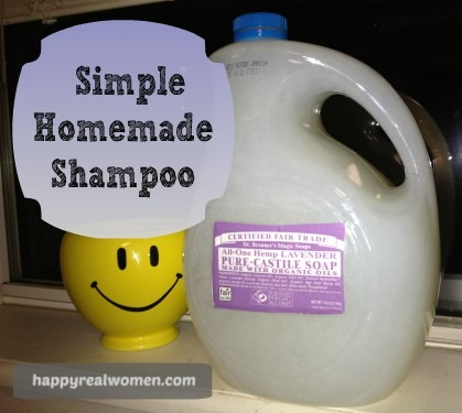 Simple homemade shampoo
