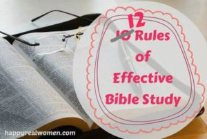 12 Rules of Effective Bible Study