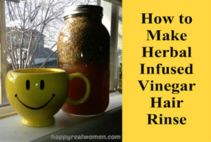 How to Make Herbal Infused Vinegar Hair Rinse